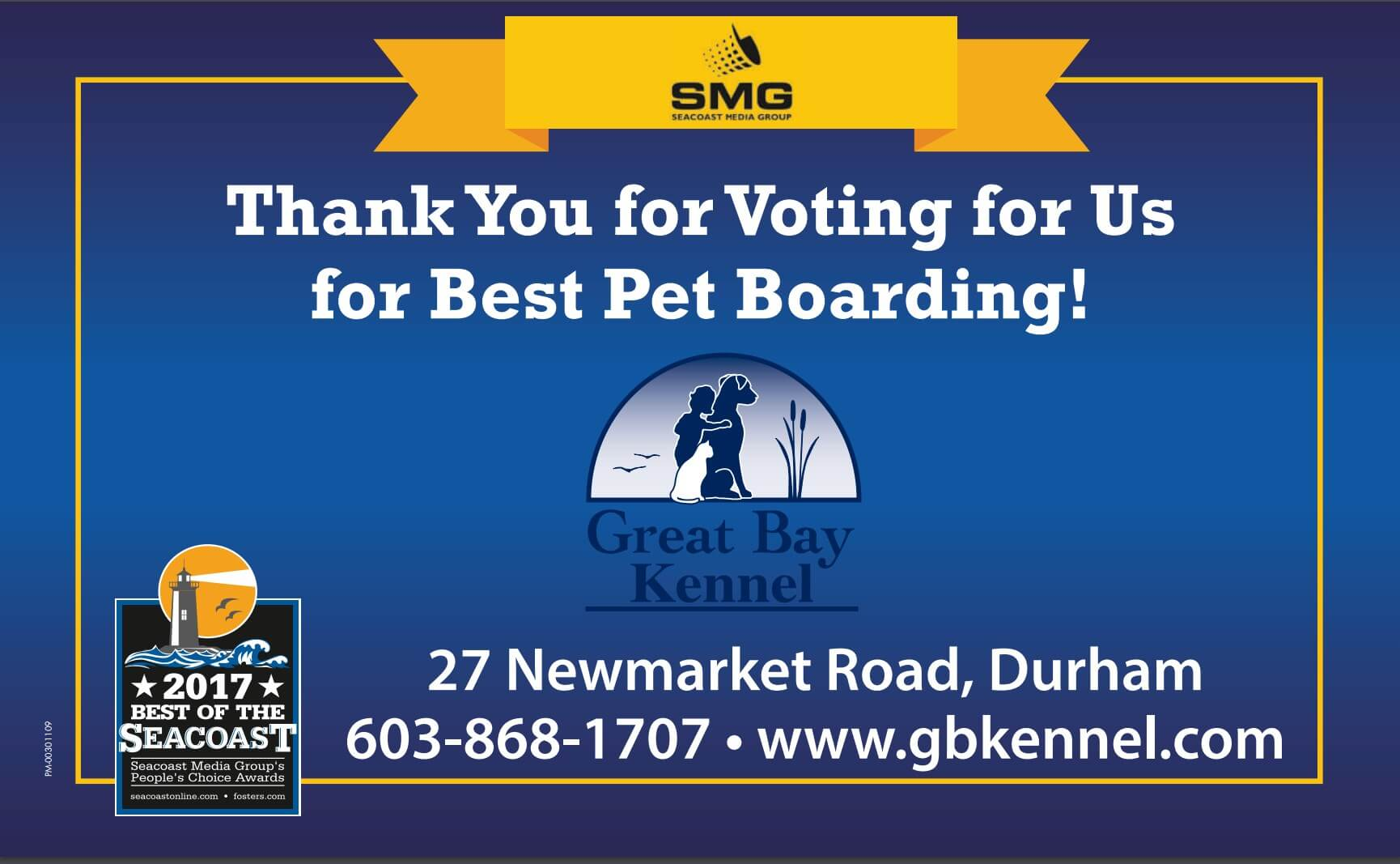 voted best pet boarding in seacoast nh for 2017